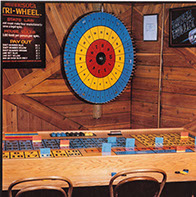 Actual operating setup for the Minnesota Tri-Wheel® game