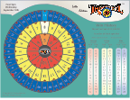Tri-Wheel Lotto can be multi-property linked casino wheel game or state lottery game