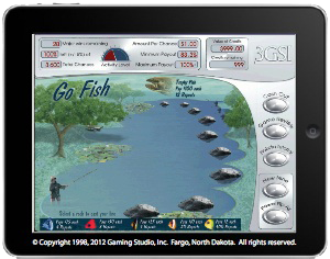 An electronic pull tab game on Nokota Gaming System™