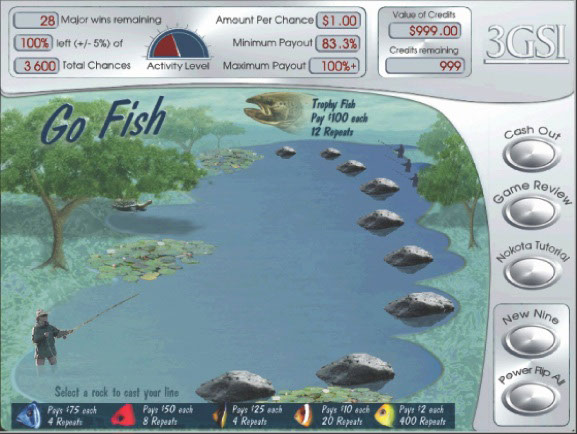 Fishing themed Nokota Gaming System game.